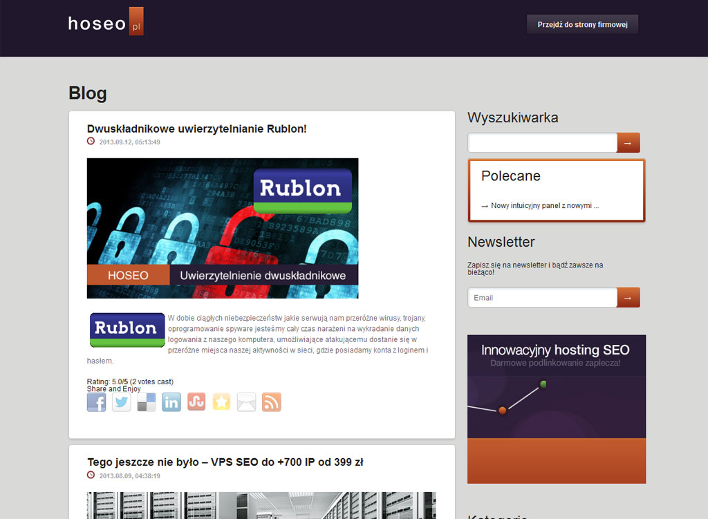 Theme Wordpress dla bloga Hoseo.pl
