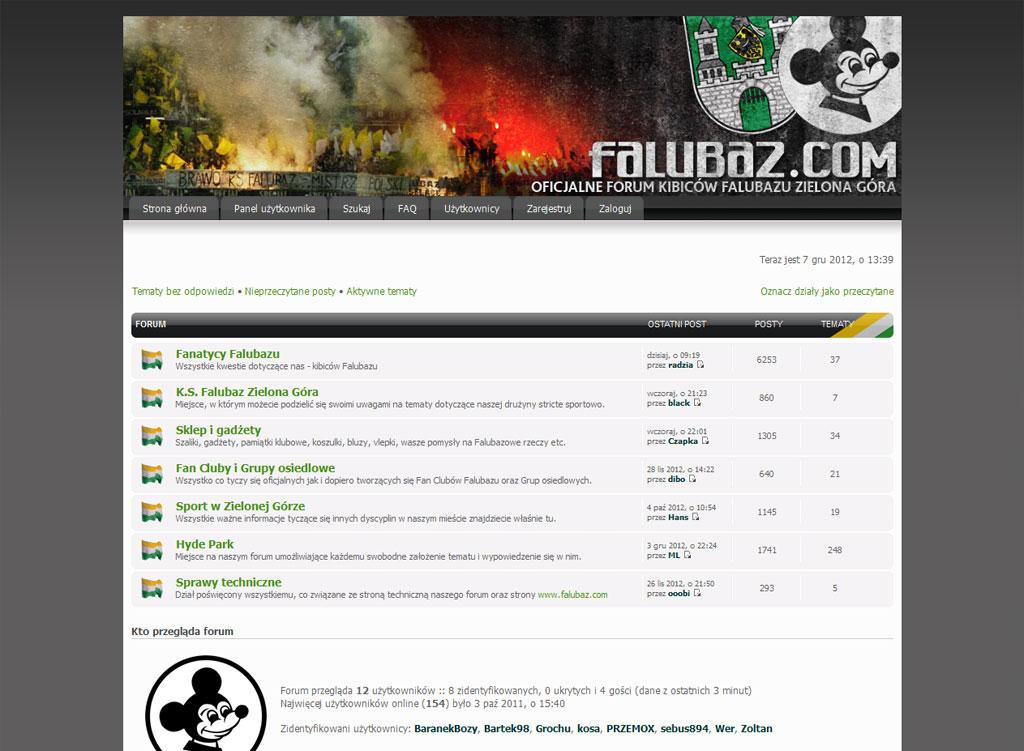Wdrożenie oraz zakodowanie skórki forum internetowego kibiców Falubazu
