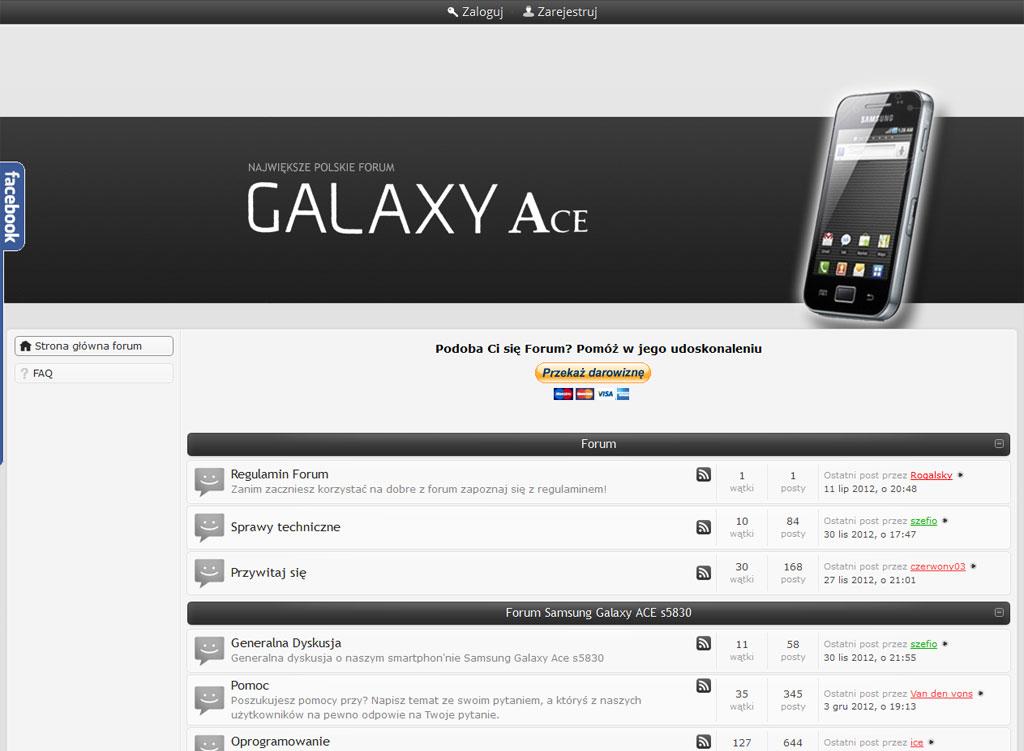 Wdrożenie - instalacja, konfiguracja kodowanie skórki dla forum galaxyace.pl