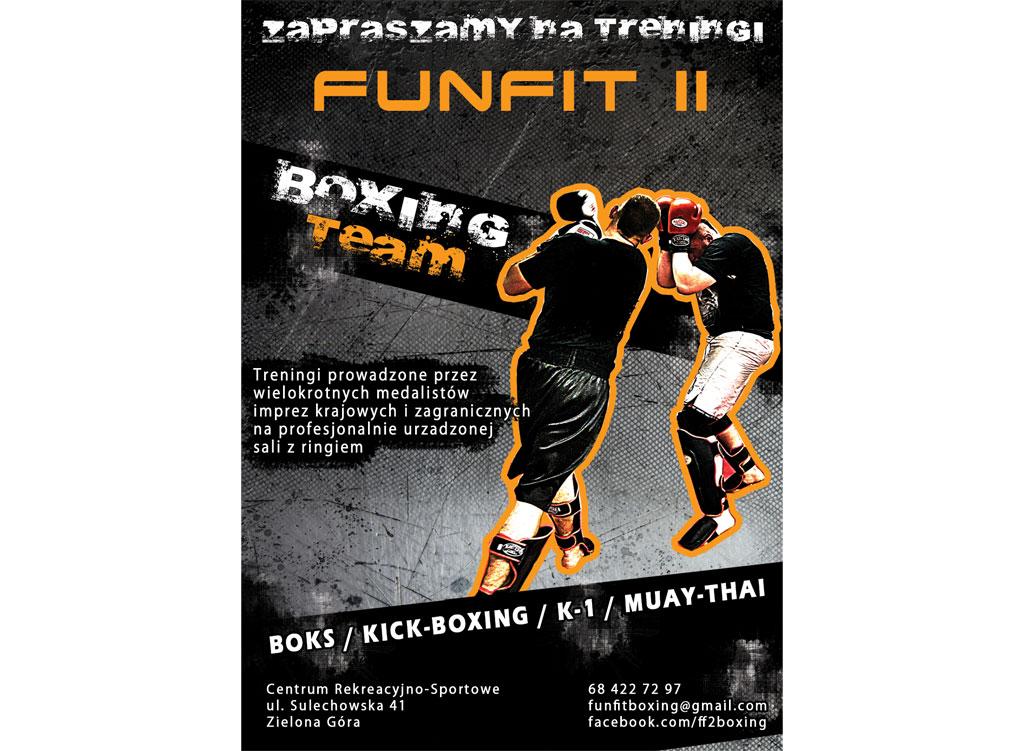 Plakat dla klubu Funfit II Boxing Team